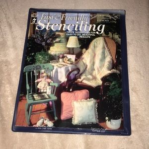 Hot off the press stenciling craft book in sleeve